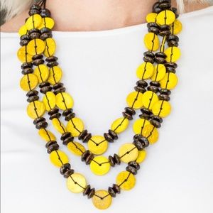 Jewelry - Yellow and Brown Wooden Necklace